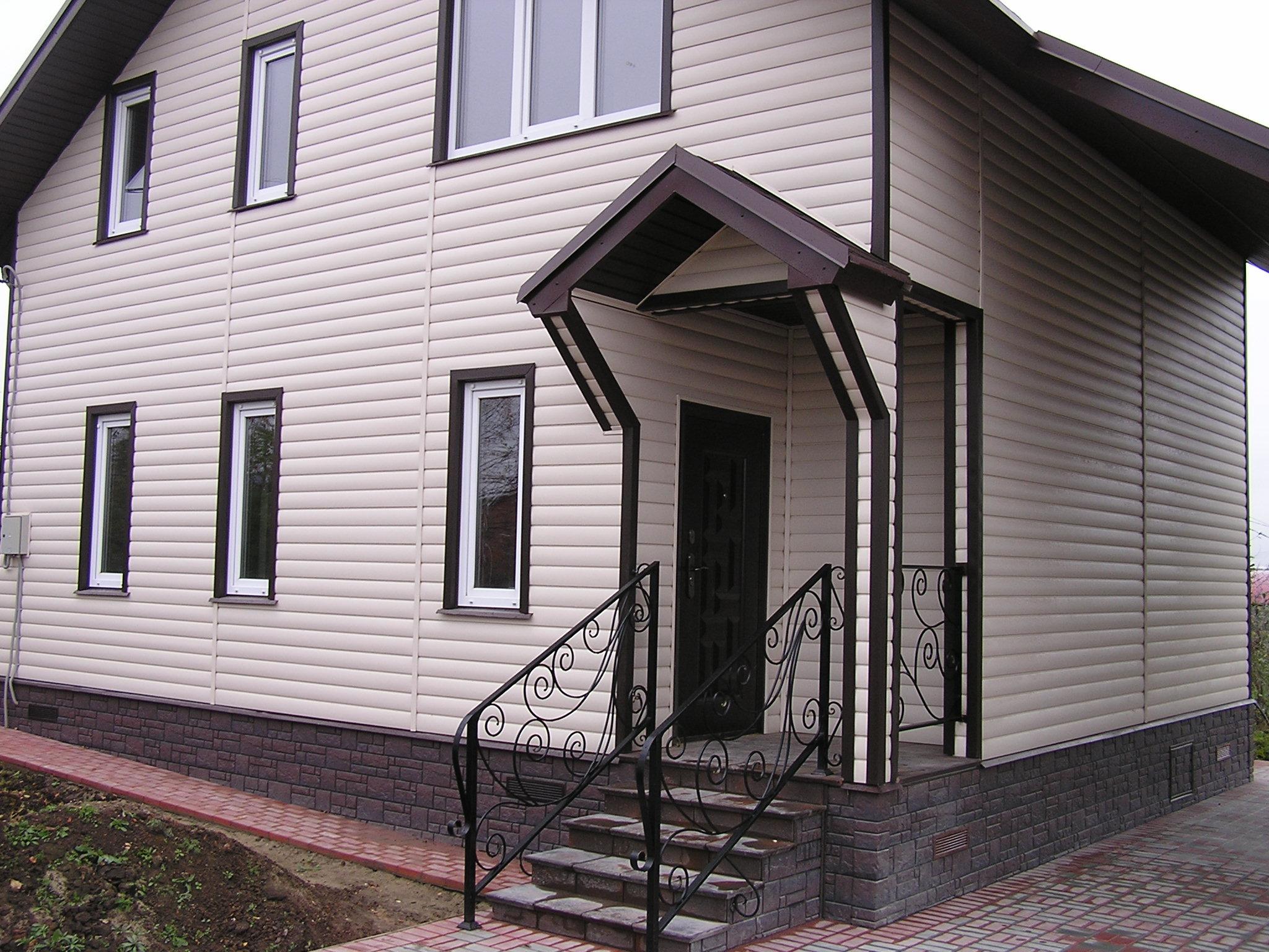 Дома обшитые сайдингом фото отделки фасадов домов