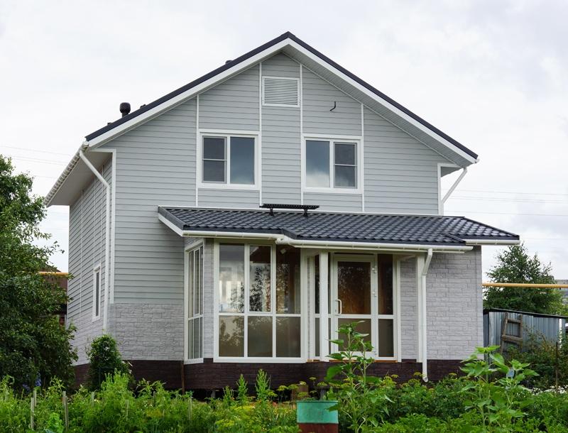 Дома отделанные сайдингом варианты отделки фасада дома