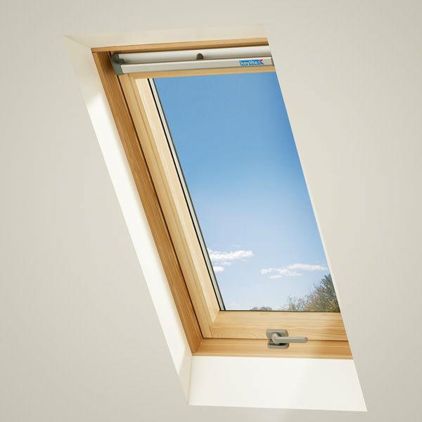 Мансардное окно нового поколения с открыванием по центральной оси